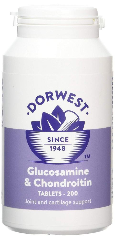 Glucosamine & Chondroitin Tablets For Dogs And Cats 200 tablets - Joints &