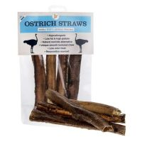 JR Pets Ostrich Straws Pack of 4    ~~~Very Low Fat~~~
