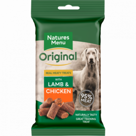 Natures Menu Real Meaty Dog Treats Lamb & Chicken 60g pack