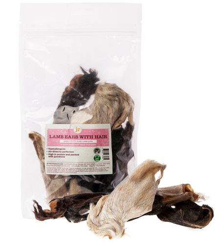 JR Pets Lamb Ears with Hair 100g    (Due in shortly)
