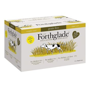 Forthglade Complete Meal Dog Grain Free Poultry Variety 12 x 395g