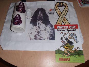 Z Cocker Spaniel Cotton Tote Bag
