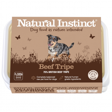Natural Instinct Dog Beef Tripe 2 x 500g packs   (Due in Friday 21 August)