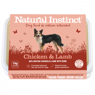 Natural Instinct Dog Chicken & Lamb 1 x 1kg pack  (Due in Friday 21 August)