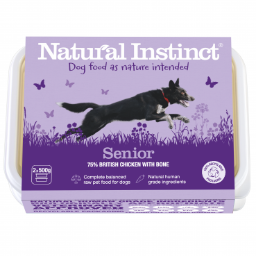 Natural Instinct Senior Dog Food (Chicken & Vegetables) 2 x 500g packs