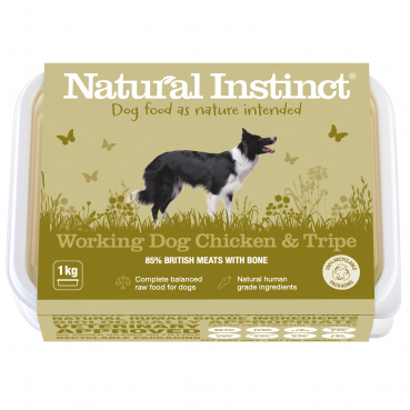 Natural Instinct Working Dog Chicken & Tripe - 1 x 1kg pack    (Due in Frid