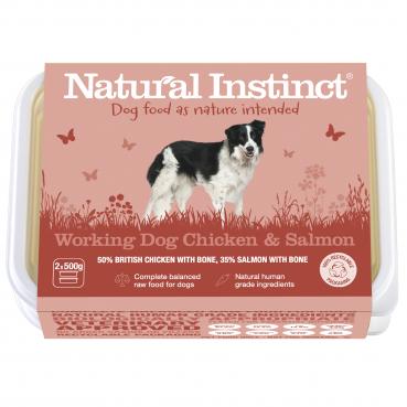 Natural Instinct Working Dog Chicken Salmon - 1 x 1kg pack    (Due in Frida