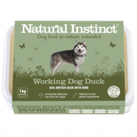 Natural Instinct Working Dog Duck - 1 x 1kg pack