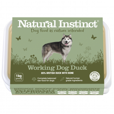 Natural Instinct Working Dog Duck - 1 x 1kg pack    (Due in Friday 21 Augus