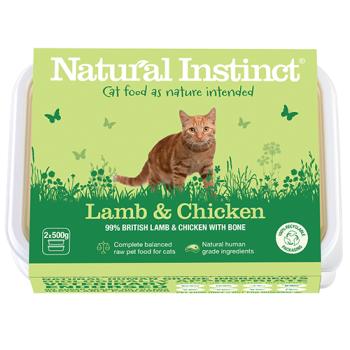 Natural Instinct Cat Lamb & Chicken 2 x 500g