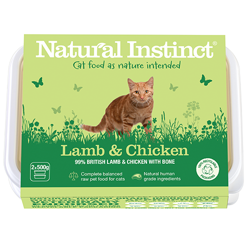 Natural Instinct Cat Lamb & Chicken 2 x 500g
