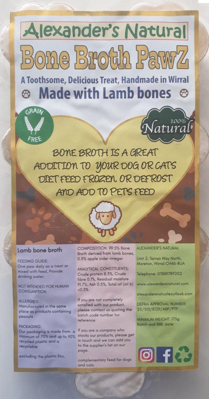 Lamb Bone Broth Pawz pack of 7   (Due in 9 or 11 December)