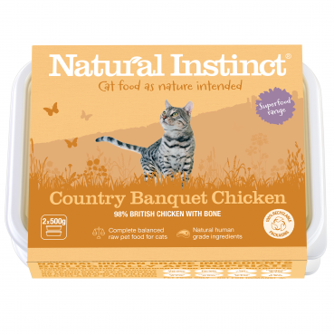 Natural Instinct Cat Chicken Country Banquet 2 x 500g packs