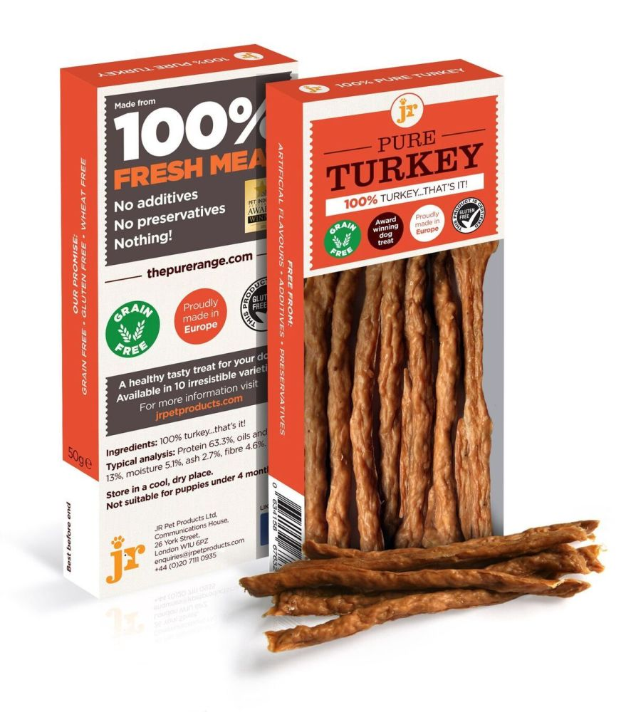 JR Pets Pure Turkey Sticks 50gm   (Due in shortly)