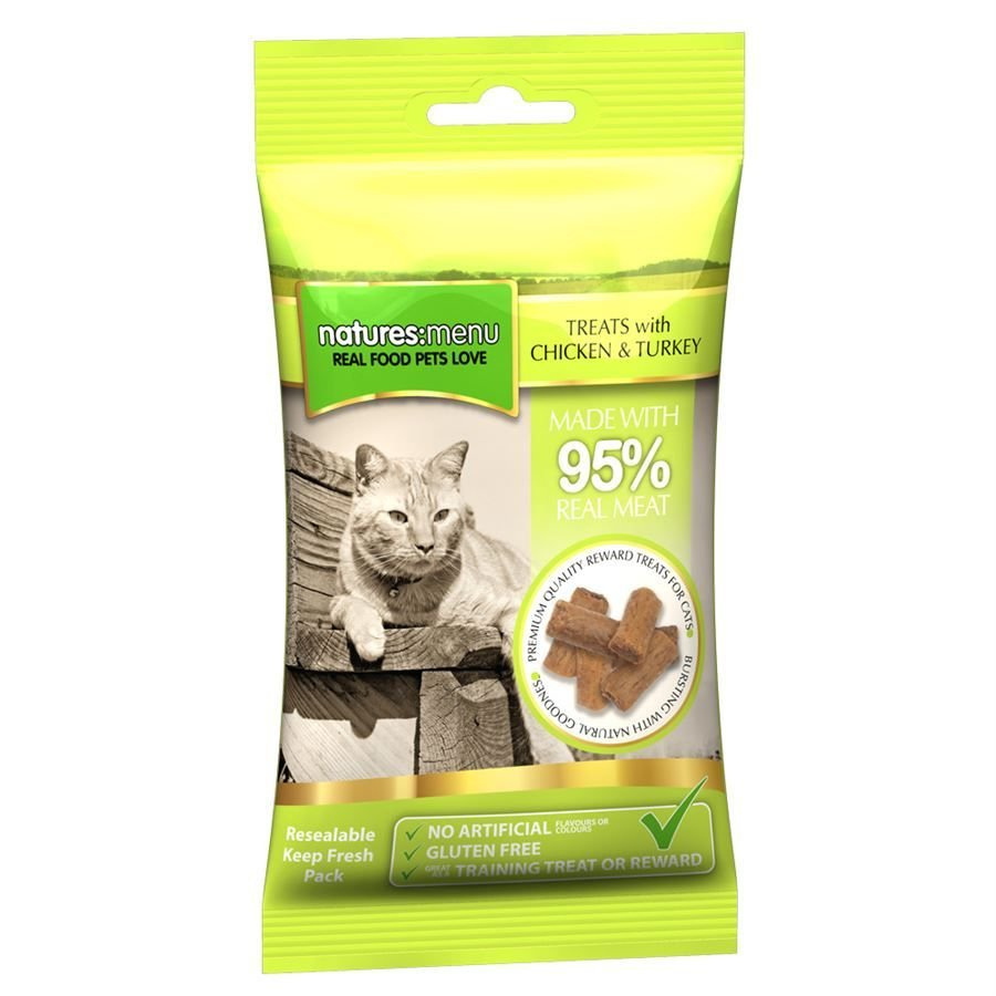 Natures Menu Real Meaty Dog Treats Beef 60g pack