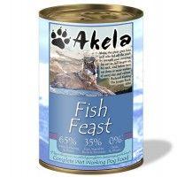 Akela Grain-Free Complete Wet Working Dog Food Fish Feast 375g Tin