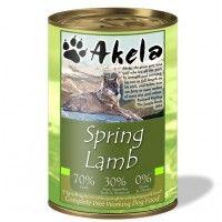 Akela Grain-Free Complete Wet Working Dog Food Spring Lamb 400g Tin
