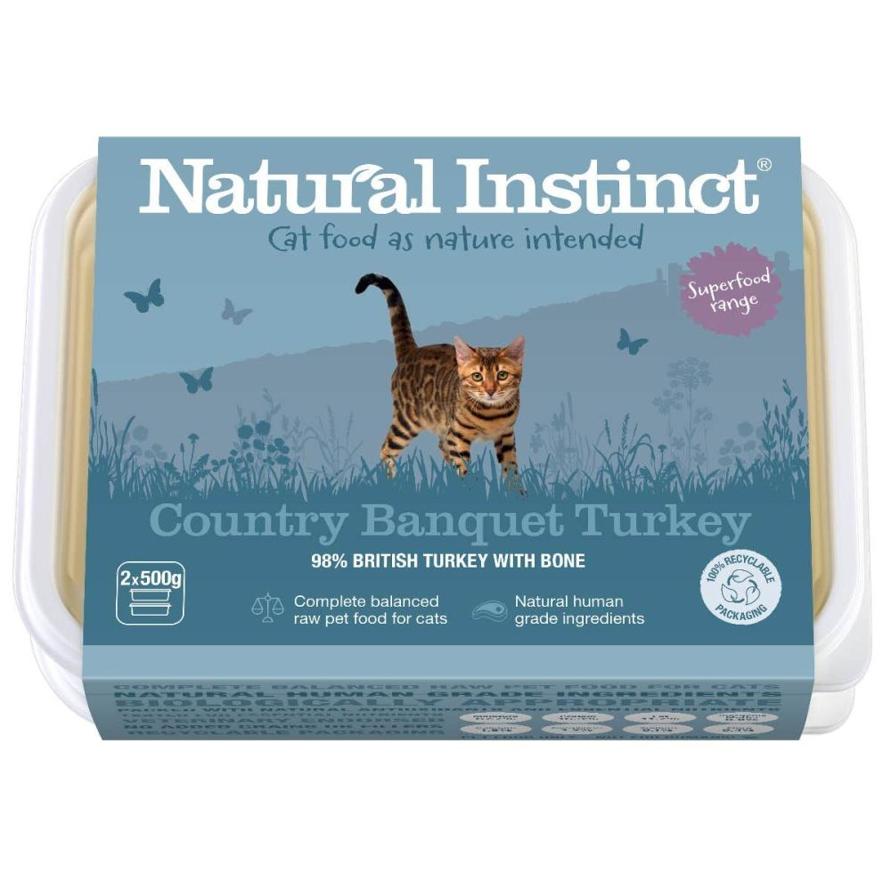 Natural Instinct Cat Turkey Country Banquet 2 x 500g packs