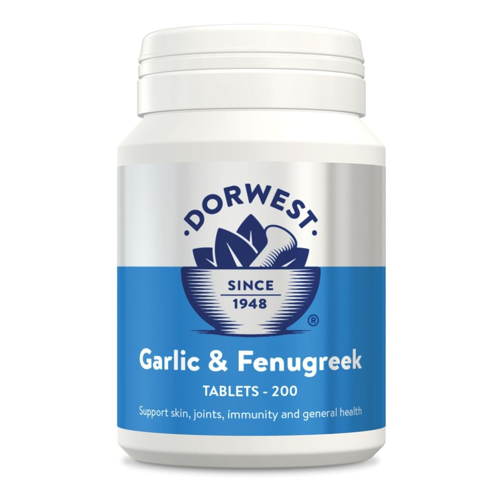 Garlic & Fenugreek Tablets For Dogs And Cats for Joints, Mobility, Skin & C
