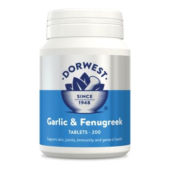 Garlic & Fenugreek Tablets For Dogs And Cats for Joints, Mobility, Skin & Coat - 100