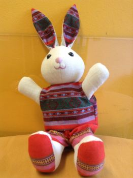 Bunny rabbit toy in shorts from Vietnam