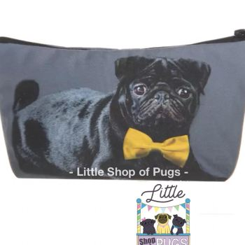 Black Pug make up / pencil case