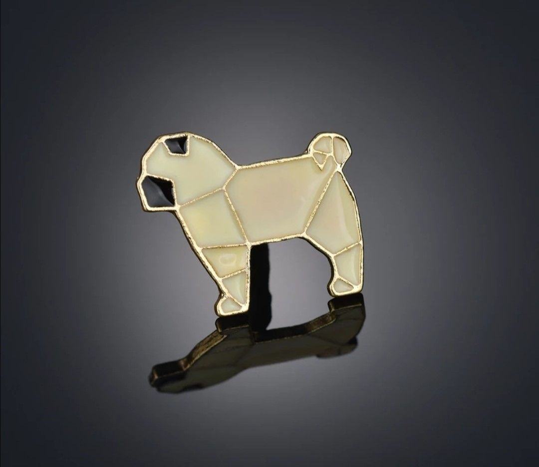 Origami Pug Pin - Arriving Soon