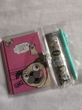 Cute lockable diary, with Stickers & pen