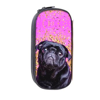 Miss. M Make up Bag with compartments Black Pug