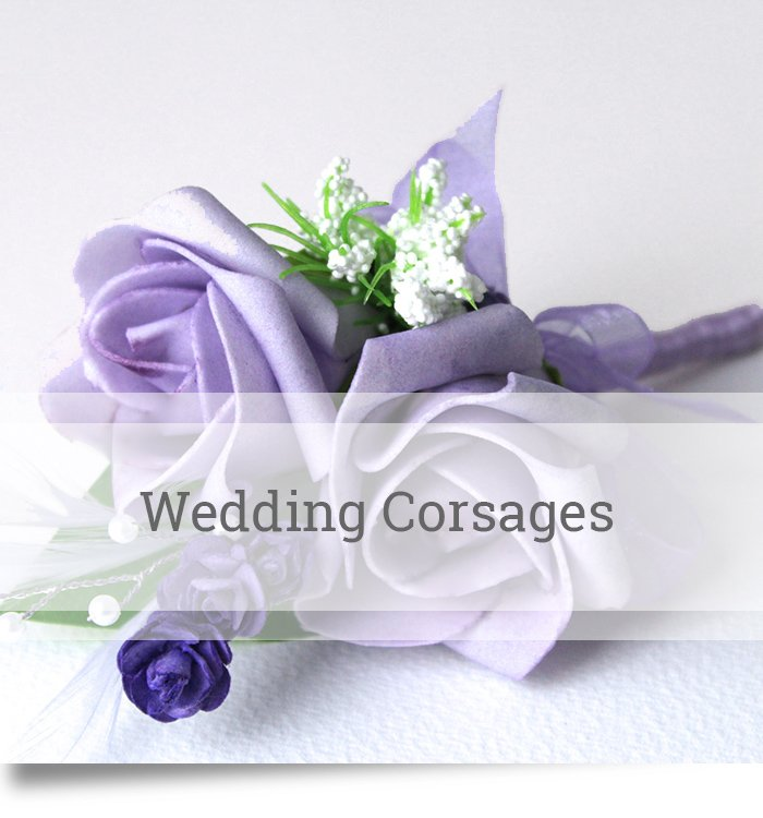 Lilac artificial wedding corsage