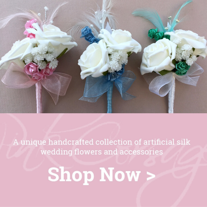 artificial wedding corsages