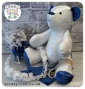 Deluxe Wedding Bear Keepsake