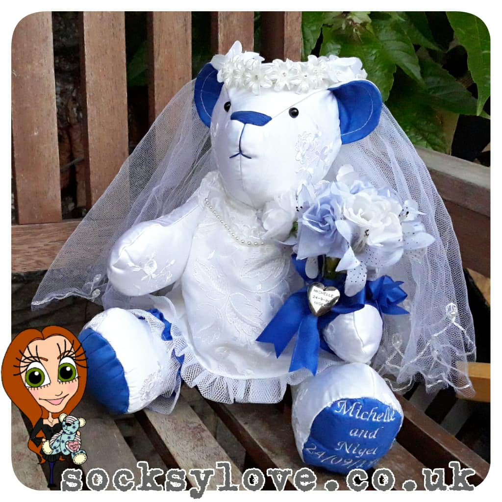 Dressed Wedding Bear Keepsake