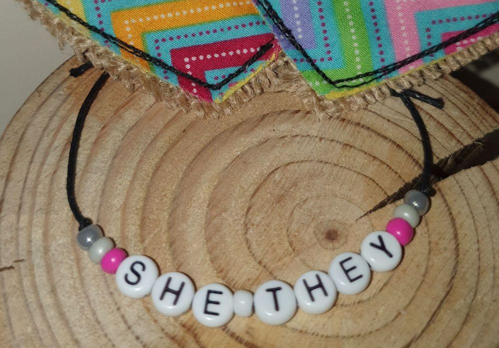 She/ They Bracelet -