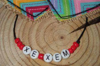 Xe/Xem Bracelet - red