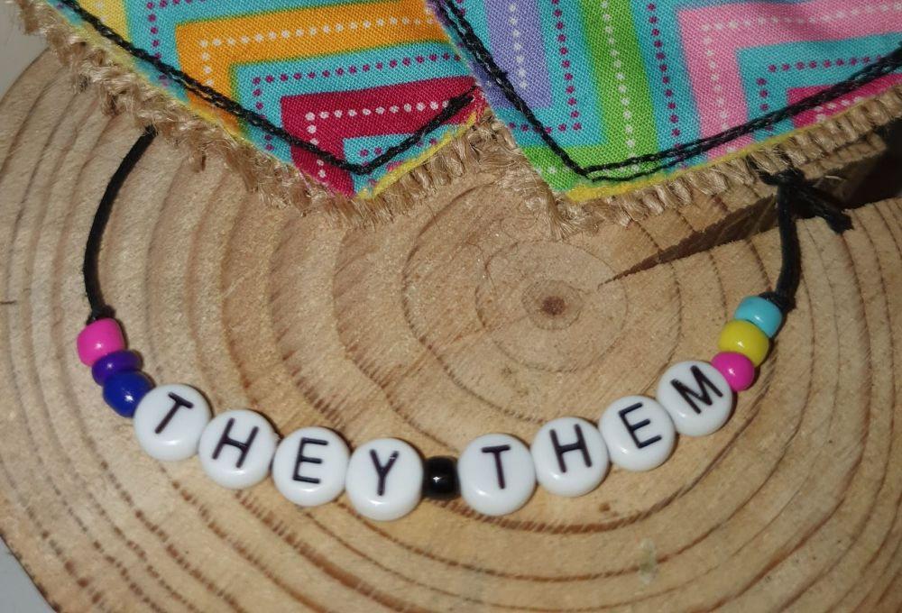 They/Them Bracelet - non binary