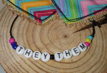 They/Them Bracelet - nb pan bi