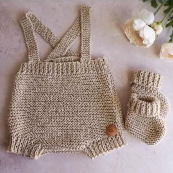 Pebble romper shorts in cream