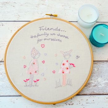 Friends Embroidery Hoop