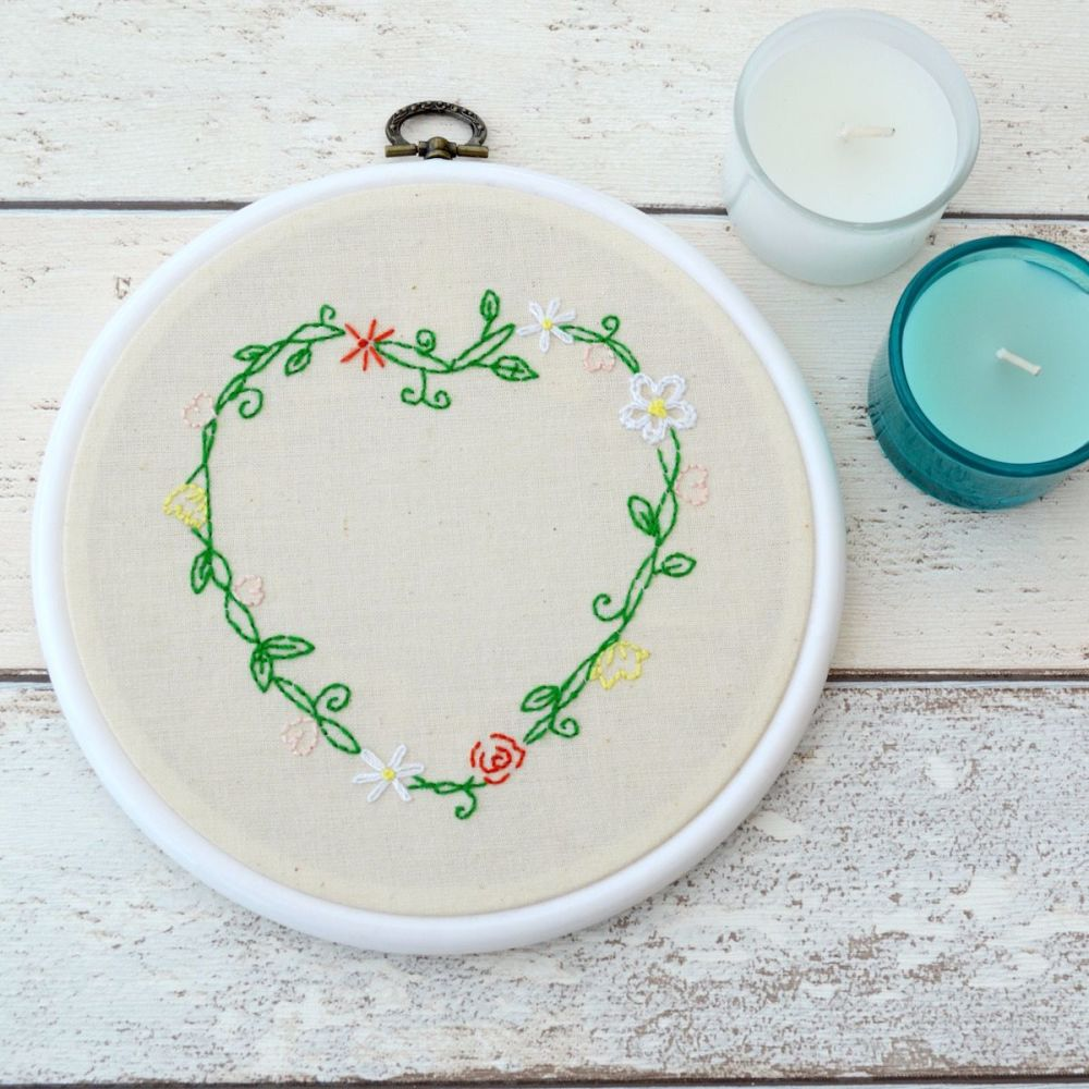 Heart Embroidery - JustSewHelen.com