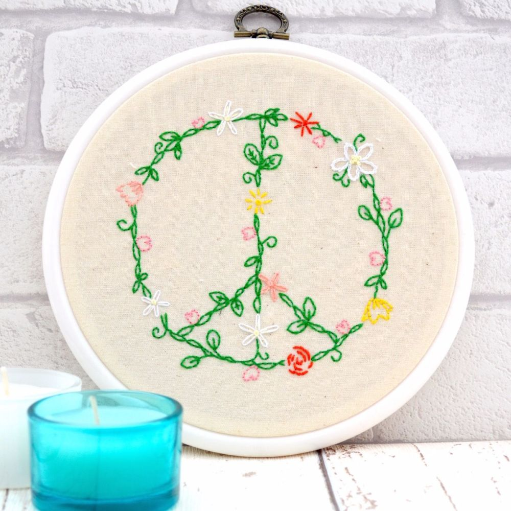Peace Embroidery - JustSewHelen.com