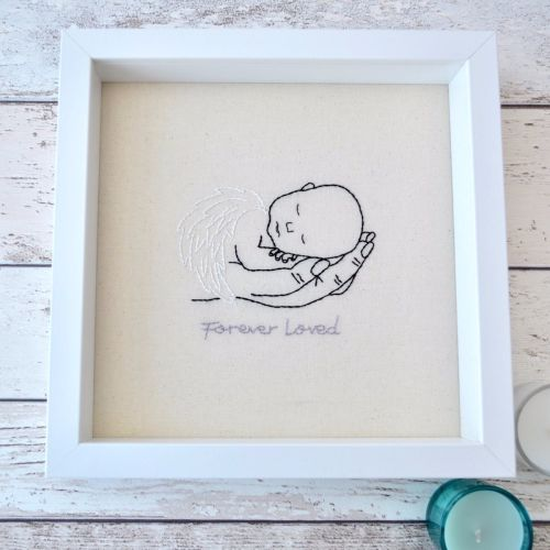 Angel Baby Embroidered Picture - JustSewHelen.com