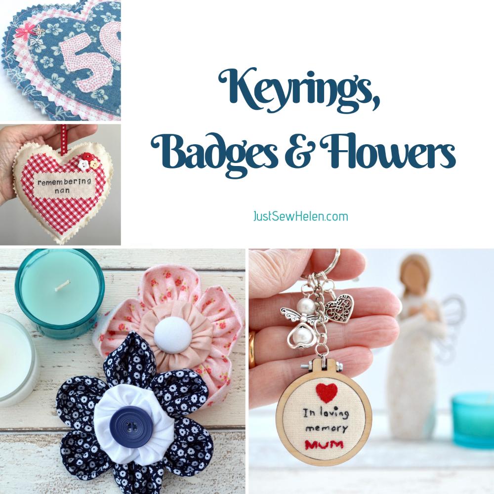 <!--006--> Keyrings, Flowers &amp; Badges