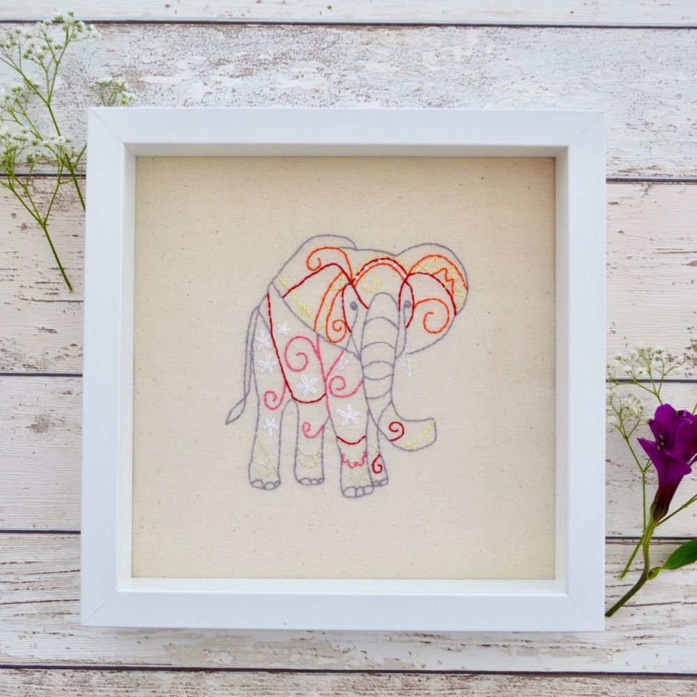 Elephant Embroidered Picture - JustSewHelen.com