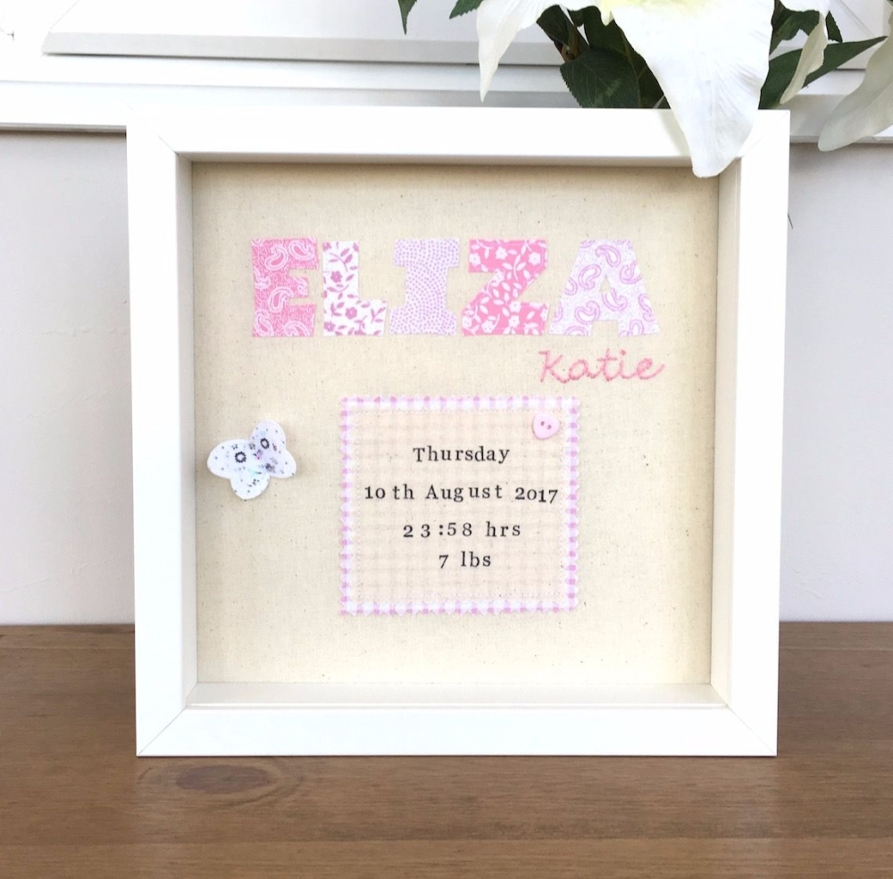 Baby Name Remembrance Picture - JustSewHelen.com