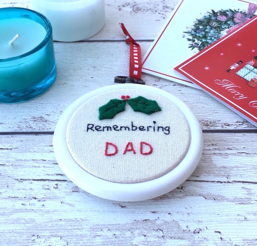 Remembering Dad Christmas Decoration - JustSewHelen.com