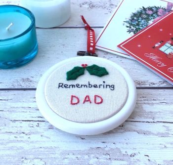 Remembrance Christmas Decoration - Personalised