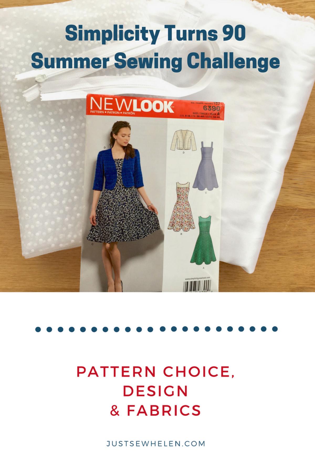 Fabric, design, pattern JustSewHelen.com #SimplicityTurns90 #SummerSewingChallenge #SimplicityByMe