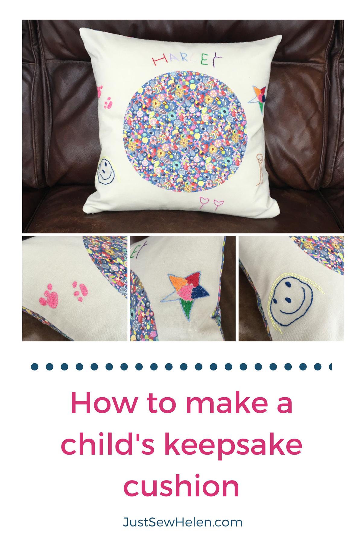 How to make a childs keepsake cushion - JustSewHelen.com