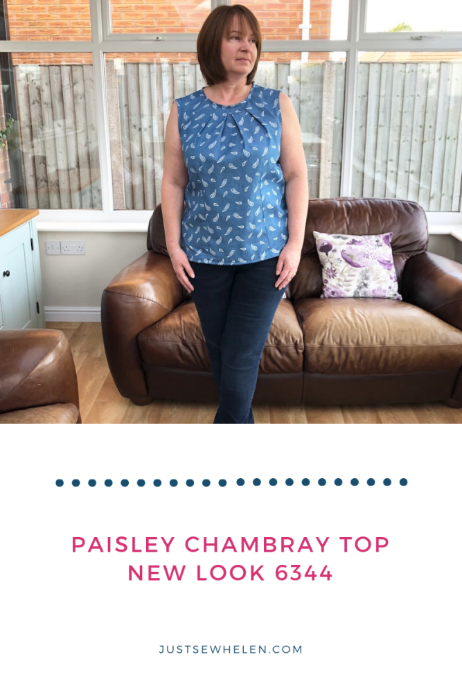 Paisley Chambray Top, New Look 6344, made by Just Sew Helen, #MCBN